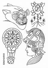 Coloring Pattern Chelsea Patterns Embroidery Geometric sketch template
