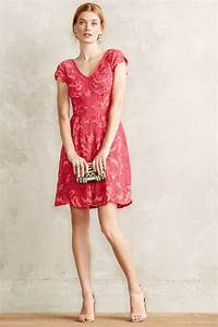 red motif lace dress wedding guest dress With anthropologie wedding guest dresses