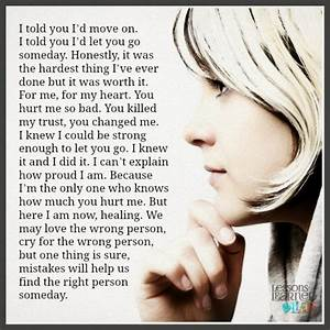 Lessons Learned in LifeYou hurt me so bad. - Lessons ...
