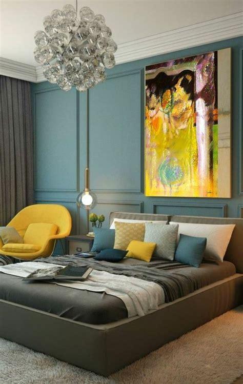 bleu chambre deco jaune et bleu canard