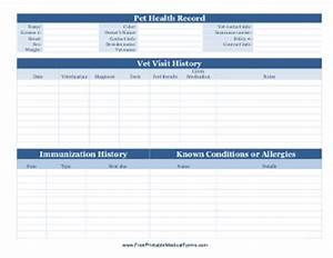 printable vaccination record for dogs With dog health record template