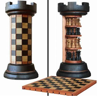 Chess Board Rook Tower Flexible Rack Pieces