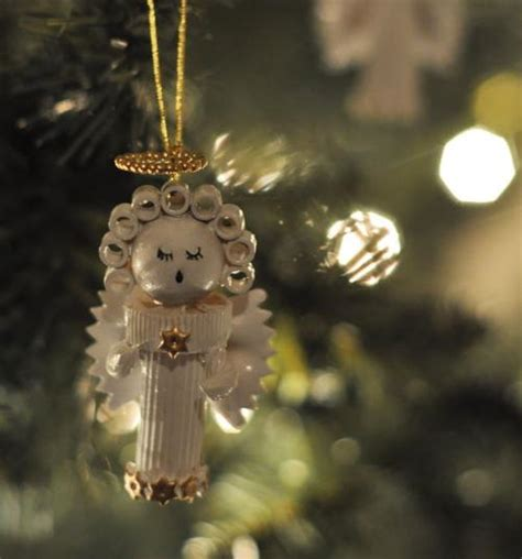 pasta angel homemade christmas ornament