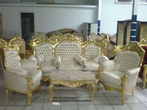 Salotto In Stile Barocco Composto Da 1 Divano Tre Posti