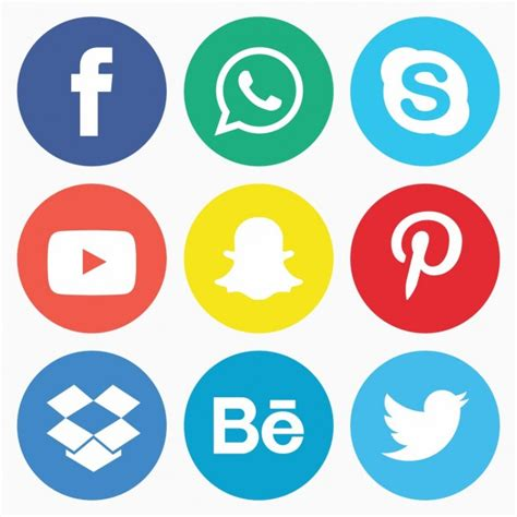 Free Social Media Icons Social Media Icon Pack Vector Free