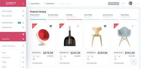 commerce admin panel templates