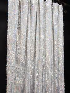 Taffeta Curtain by Gc211l 1 Panel Silver 5mm X 9mm Sequin Shiny Fabric Made