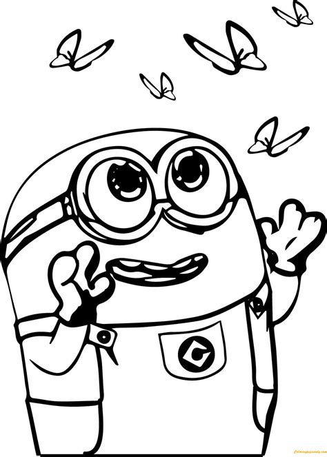 Kleurplaat Minion by Got Milk Minion Coloring Page Free Coloring Pages