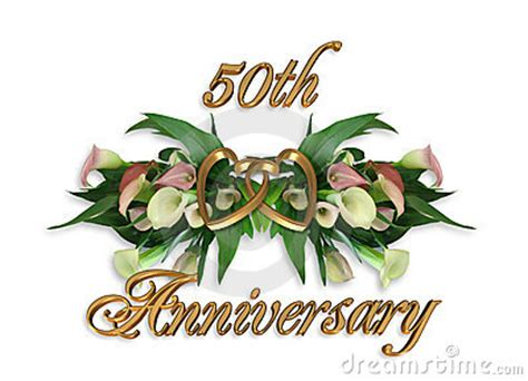 Wedding Anniversary Calla Lilies 50th Stock Photos Image
