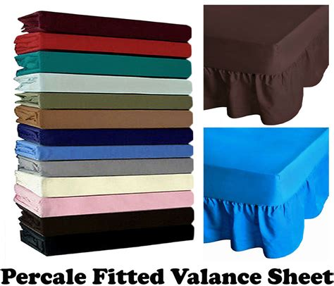 non iron percale fitted valance sheet single king