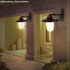 2er set led wandleuchten 9 watt aussenlampen landhaus With katzennetz balkon mit lumineo solar garden light