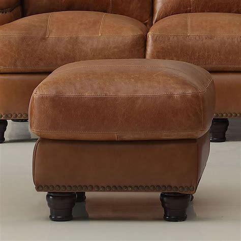 Saddle Leather Ottoman by Hutton Leather Ottoman Saddle Leather Italia Furniture