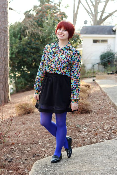 tights 80s skirt shirt line geometric walmart loafers shoes bright forever print appeal rack hair room studded