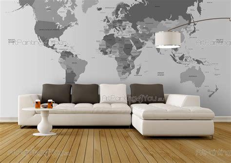 carte du monde papier peint poster mcv1015fr