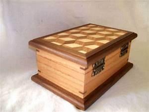 Jewelry box mosaic walnut oak ash - SS Woodcraft