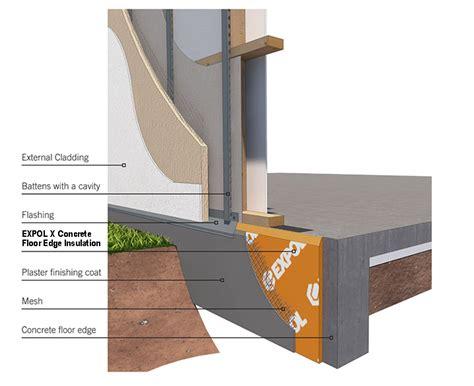 concrete floor insulation products expol x concrete floor insulation edging expol