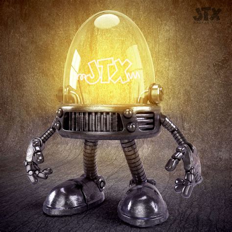 Robot Light by Robot Light Bulb Jonatronix 3d Illustration