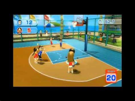 wii sports resort basketball game  youtube