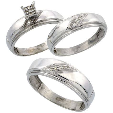 wedding rings sets for him and her wedding promise