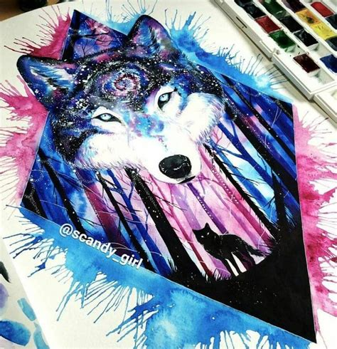 pin  enia  art wolf tattoos wolf painting