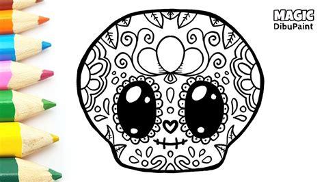 dibujos kawaii catrina mexicana kawaii  halloween