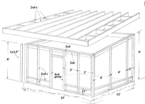 Porch Blueprints by Build A Screened In Porch Or Patio How To