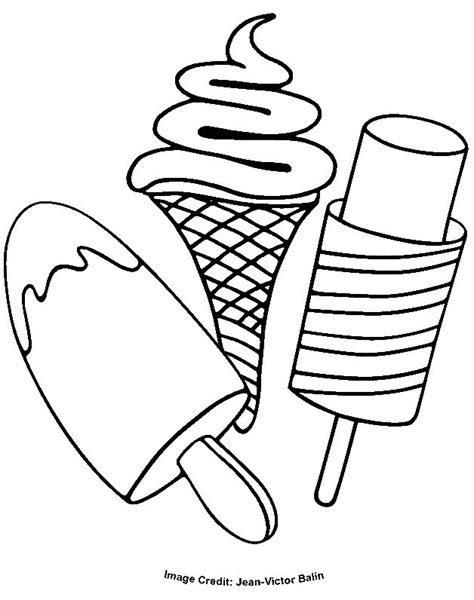 ice cream coloring pages ideas  pinterest ice