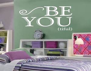 be you tiful for teen girl bedroom wall art wall decal With teenage girl wall decals ideas