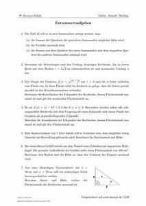 Scheitelpunkt Berechnen Aufgaben Mit Lösungen : aufgaben extremwertaufgaben mit l sungen koonys schule 1599 ~ Themetempest.com Abrechnung