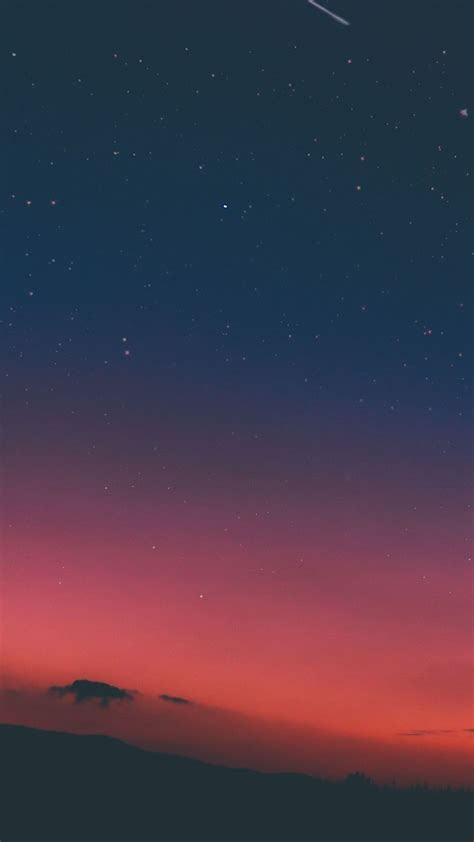 sky sunset pink nature iphone 8 wallpaper