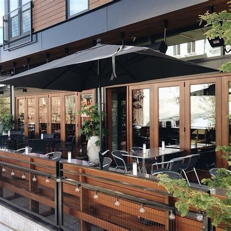 patio cafe design tallulah s seattle black gold wood warm modern eritage