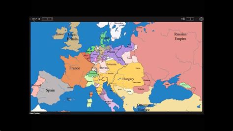 European time lapse map w years & events - YouTube