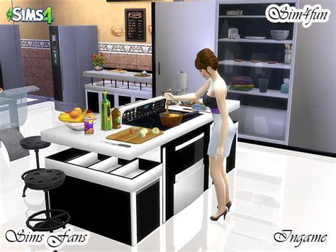 modern kitchen  simfun  sims fans sims  updates