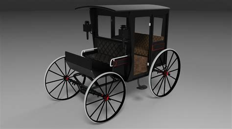 This is a somewhat detailed model of a rock-away carriage ...