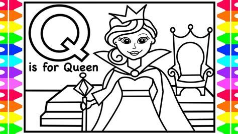 alphabet coloring page    queen queen coloring