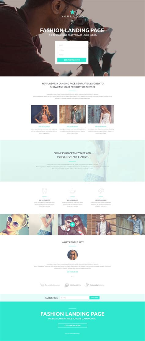 fashion responsive landing page template