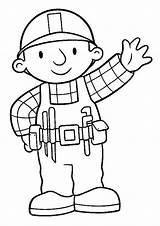 Bob Builder Coloring Colorier Coloriage Bricoleur Constructor Colorear Dibujos Disegni Bobby Colorir Om Printable Toddler Construtor Numero Colouring Bo Desenhos sketch template