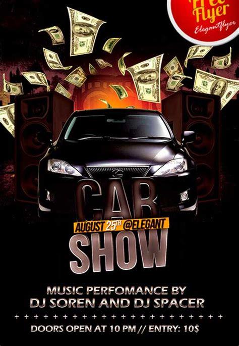car show party psd flyer template freepsdflyer