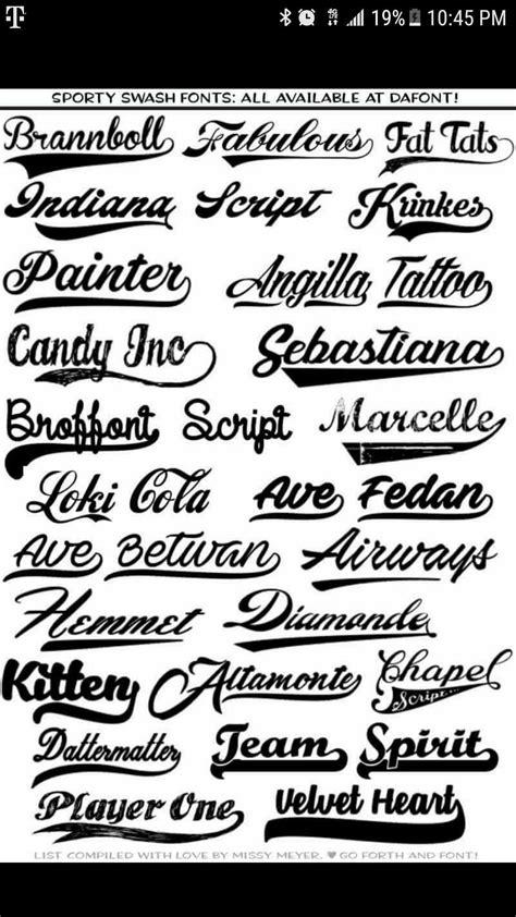 sporty swash fonts  dafont cricut pinterest cricut