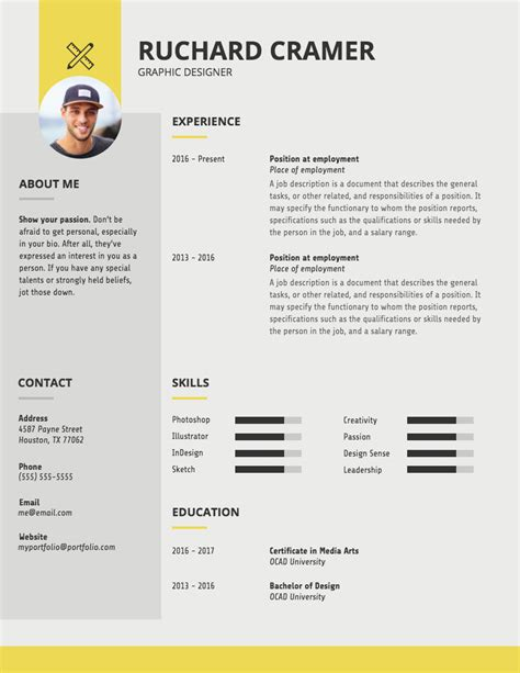 Graphic Design Resume Template by Resume Template For Graphic Designer Vvengelbert Nl