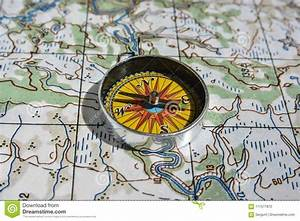 Compass On The Map  Stock Photo  Image Of East  Navigation