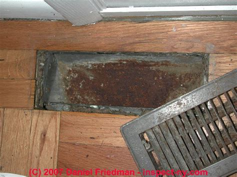 hardwood floor buckling from hvac duct underneath air conditioners or corroded heating or cooling ducts