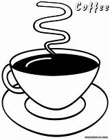 Coffee Coloring Pages Coffee3 sketch template