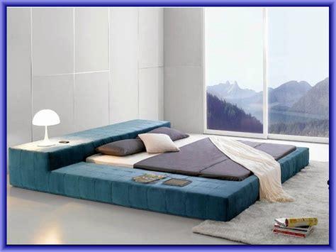 modrest opal black gloss japanese style platform bed and