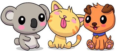 dibujos kawaii de perros  gatos