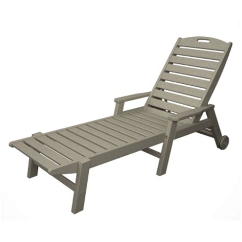 polywood nautical 3 wheeled chaise with arms set