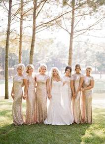 sparkly bridesmaid dresses 2016 wedding trends sequined and metallic bridesmaid dresses deer pearl flowers