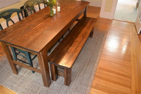 farmhouse table with bench woodwork farmhouse table and bench plans pdf plans