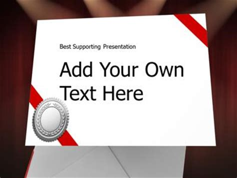 envelope   powerpoint template