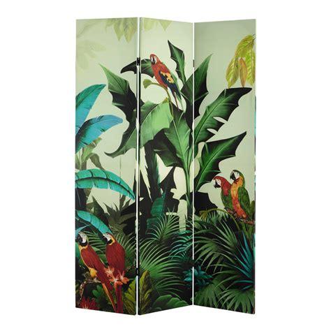 deco chambre espace paravent imprimé tropical l 121 cm santana maisons du monde